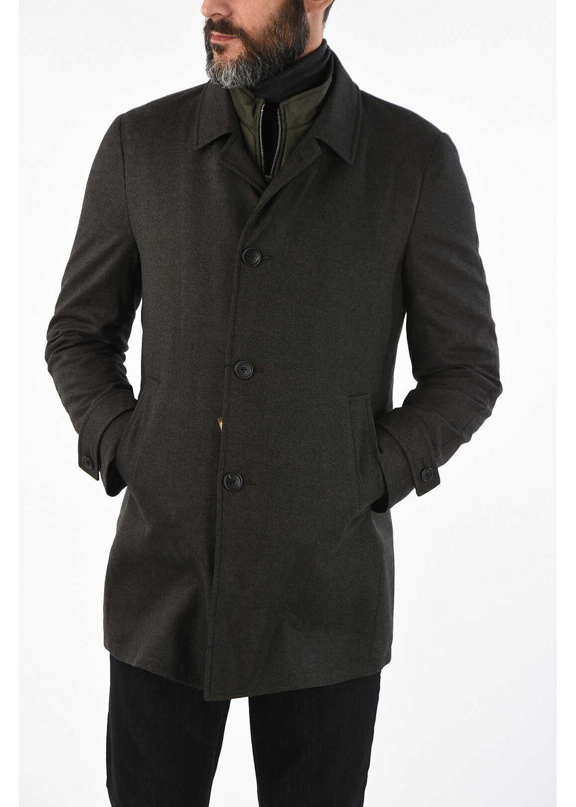 CORNELIANI ID virgin wool coat GRAY imagine