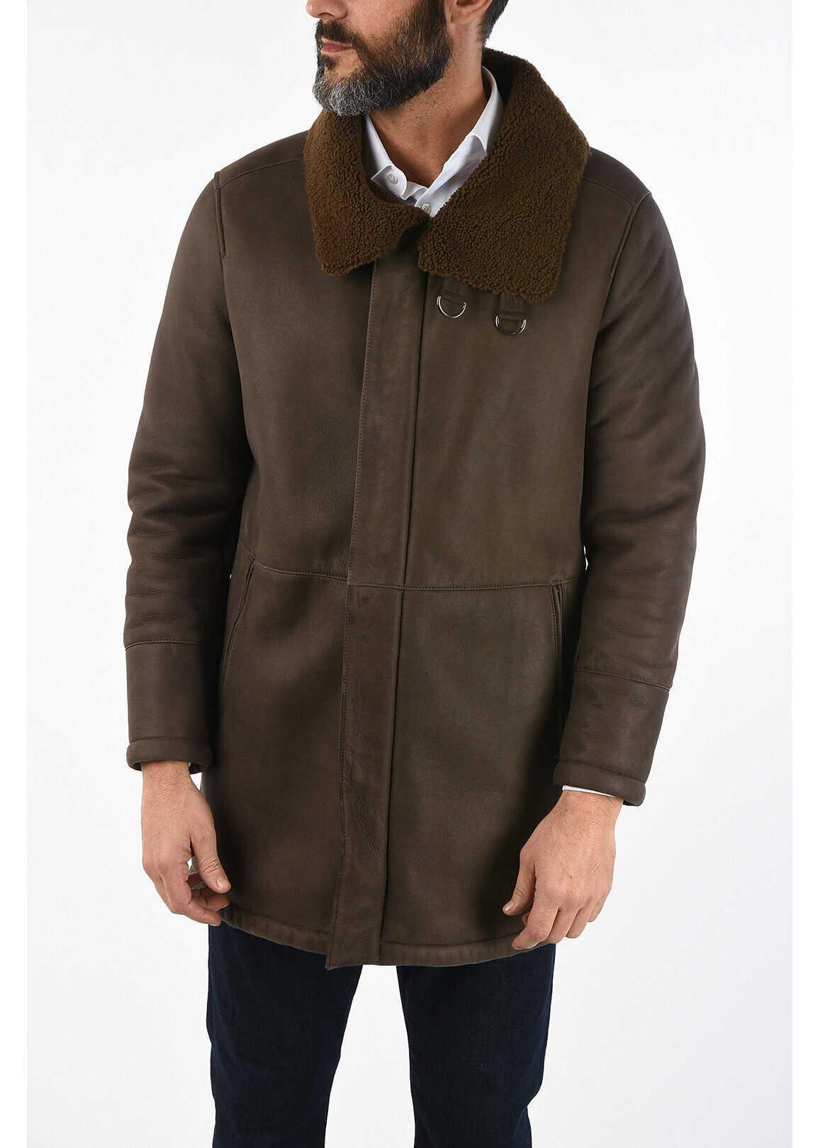 CORNELIANI ID Shearling jacket BROWN imagine