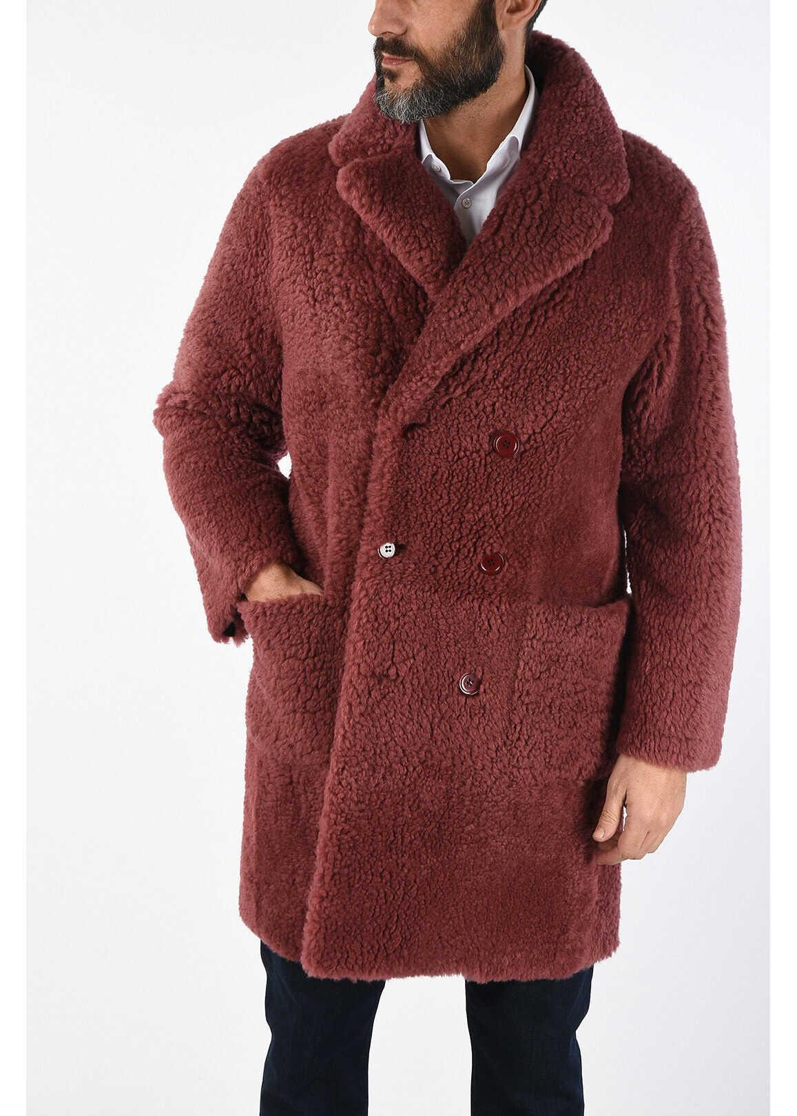 CORNELIANI CC COLLECTION shearling ISLANDA coat PINK imagine