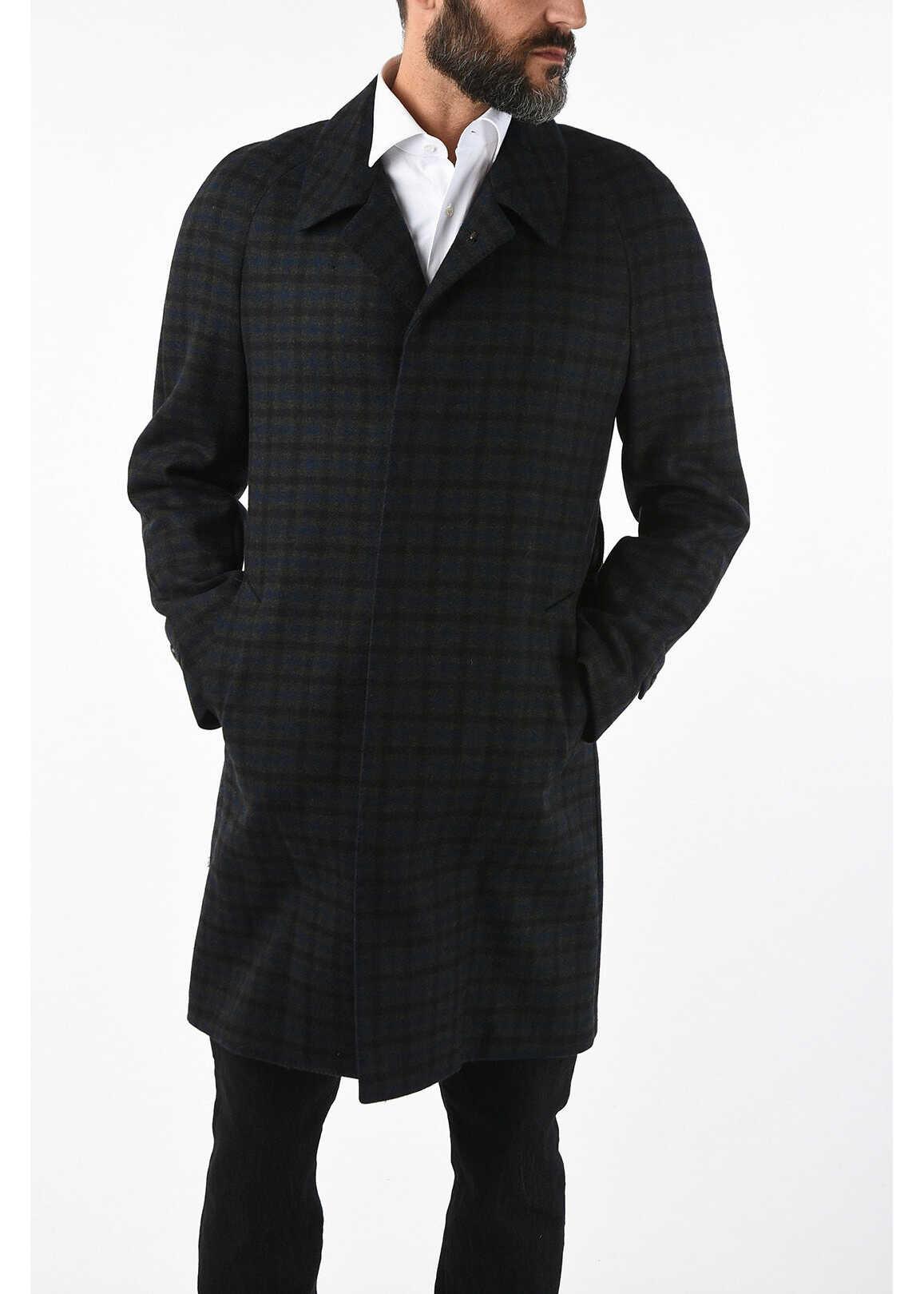 CORNELIANI CC COLLECTION pin check virgin wool coat MULTICOLOR imagine