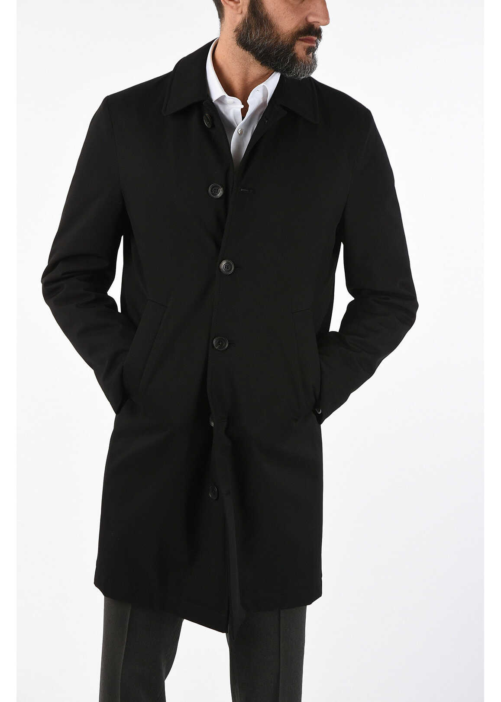 CORNELIANI CC COLLECTION O.COAT WAGON chesterfield coat BLACK imagine