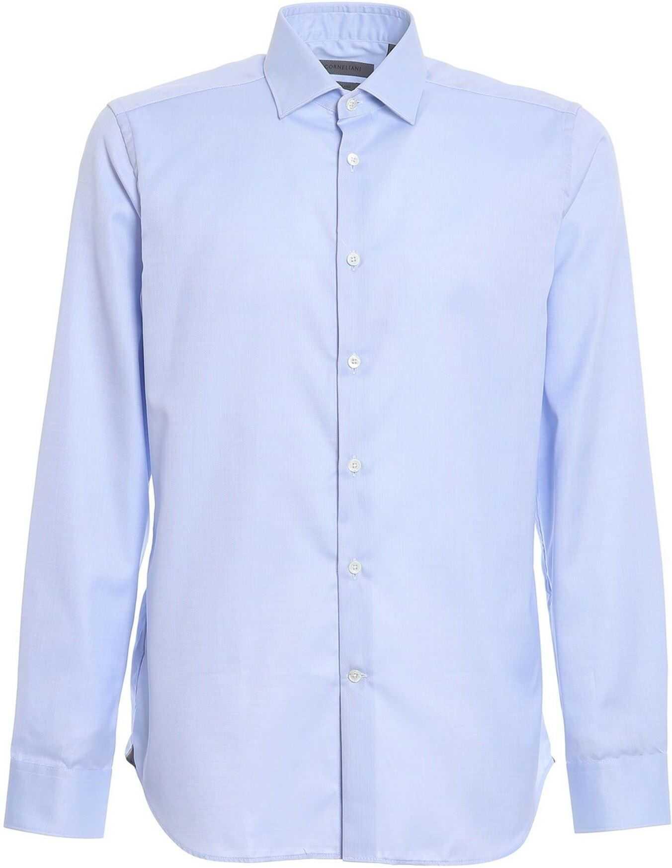 CORNELIANI Cotton Shirt In Light Blue Light Blue imagine