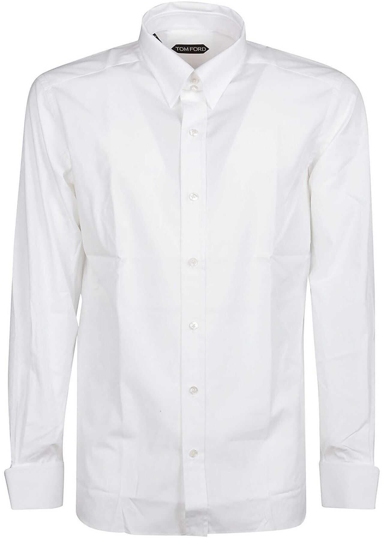 Tom Ford White Cotton Shirt In White White imagine