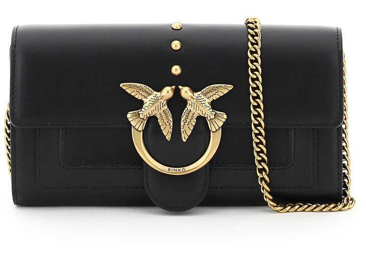 Pinko Love Wallet Simply 3 Bag 1P221Y Y6XT NERO LIMOUSINE imagine b-mall.ro
