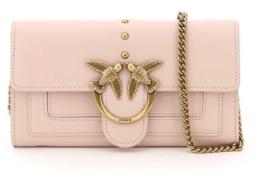 Pinko Love Wallet Simply 3 Bag 1P221Y Y6XT ROSA POLVERE ROSA imagine b-mall.ro