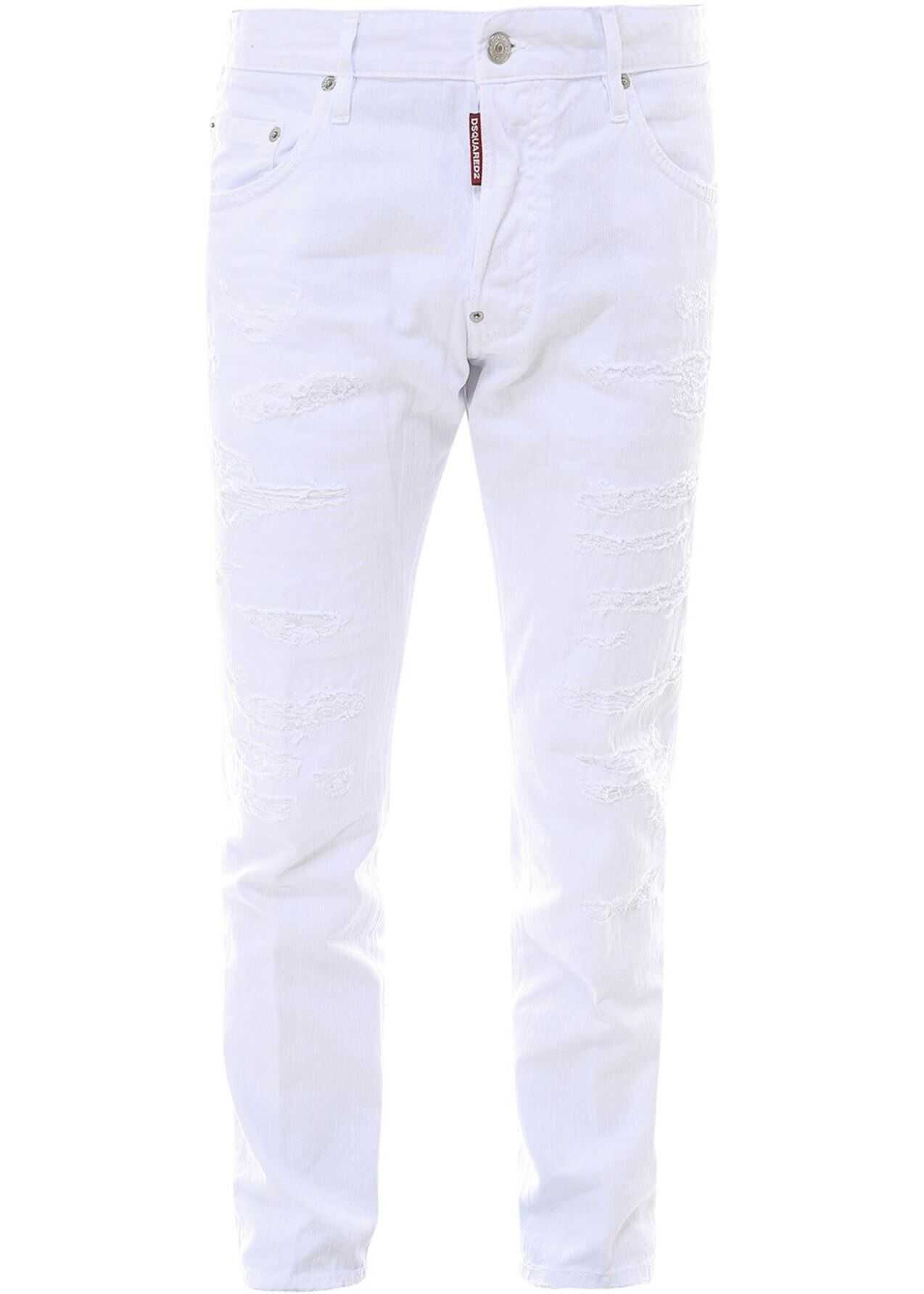 DSQUARED2 Skater Jeans In White White imagine