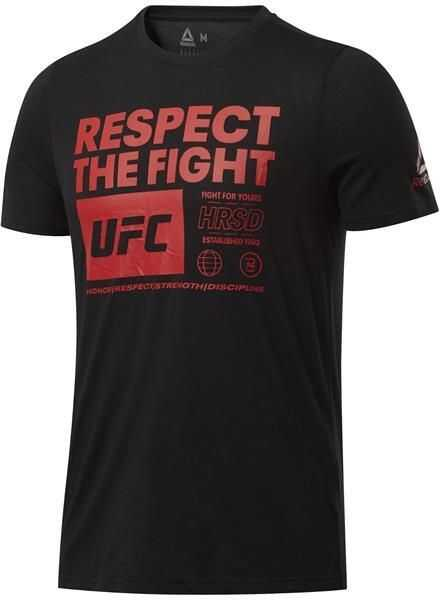 Reebok Ufc Fg Text Tee* Black