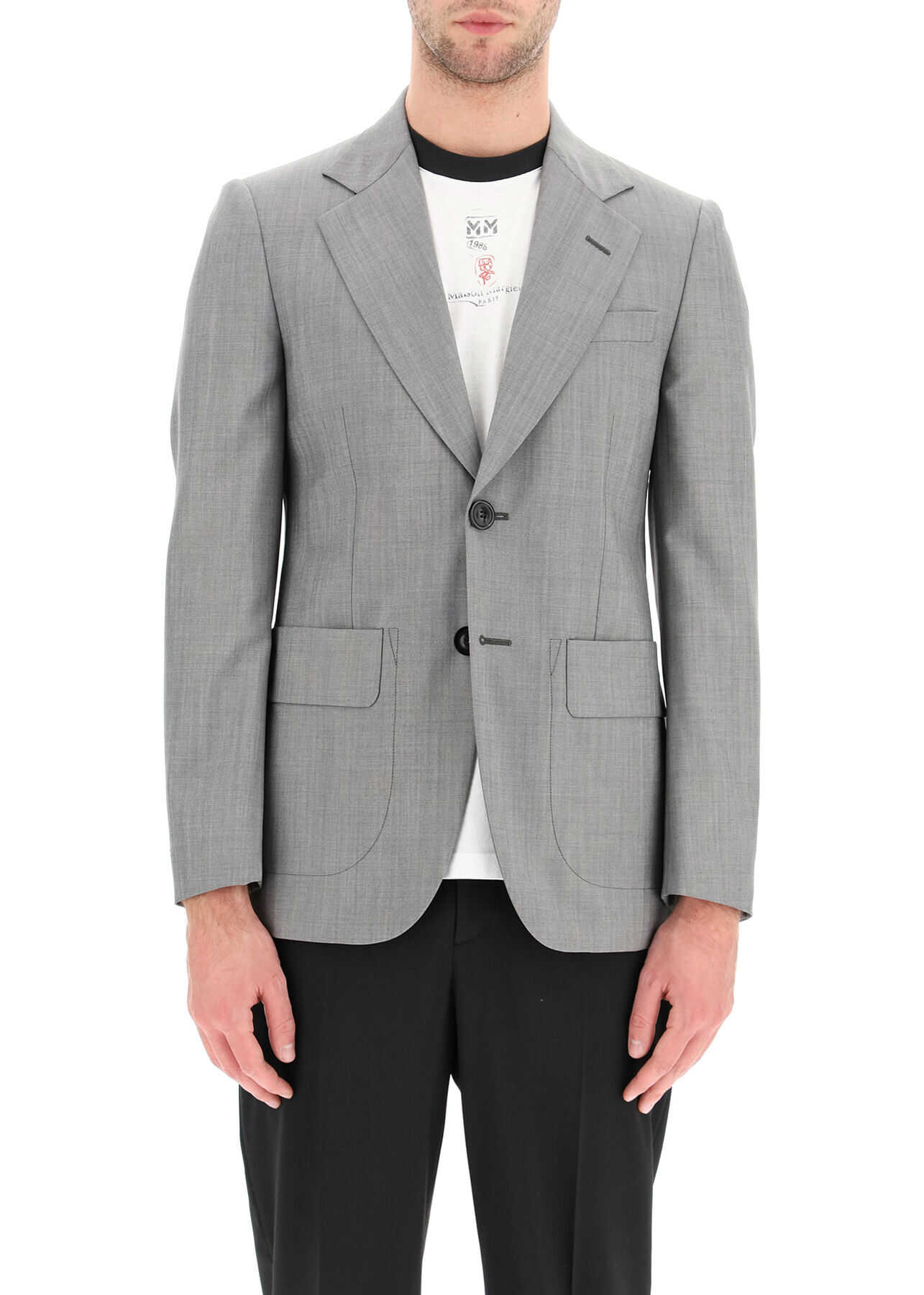 Maison Margiela Classic Mohair Wool Jacket GREY imagine