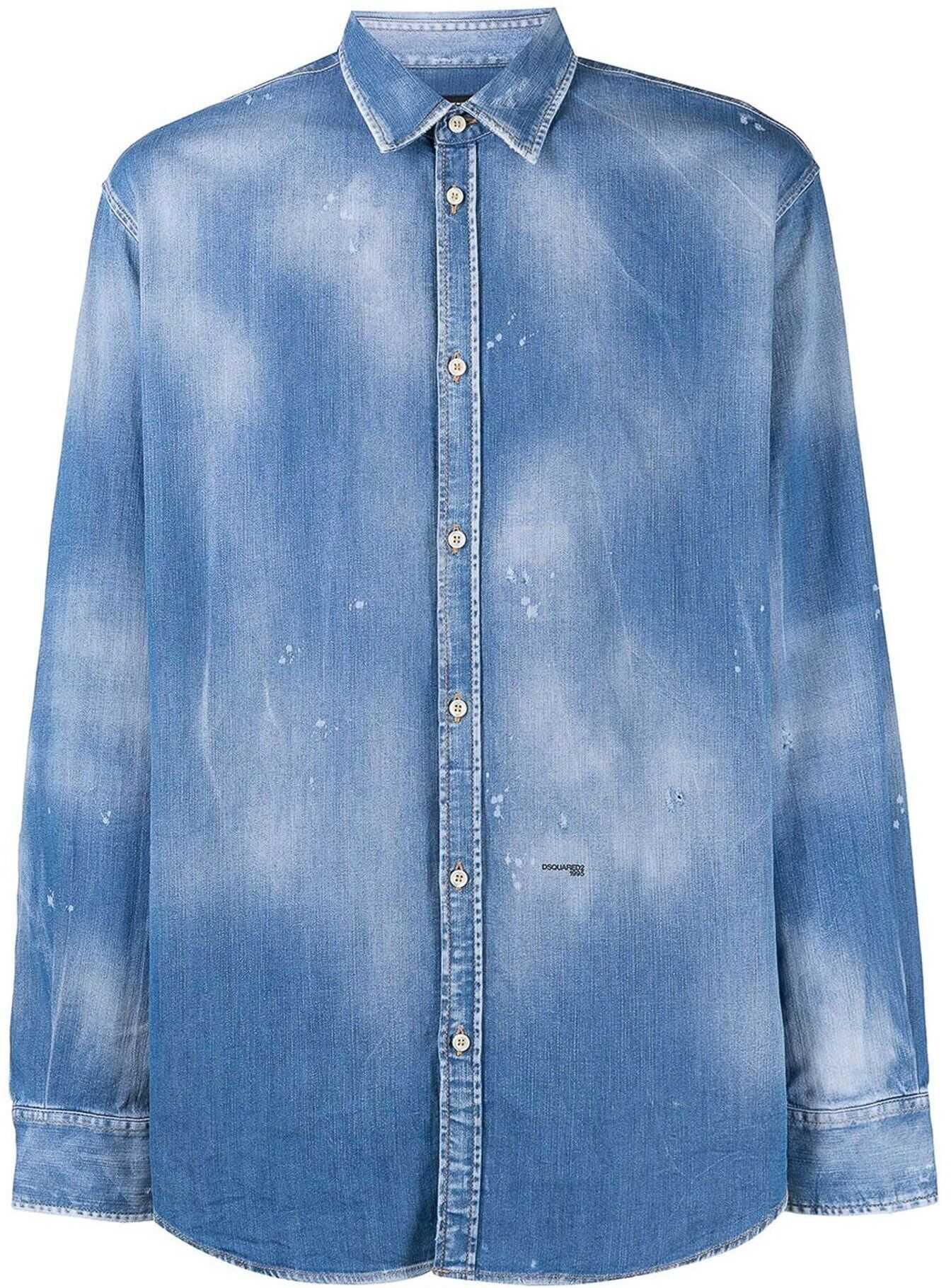 DSQUARED2 Dan Denim Shirt In Blue Blue imagine