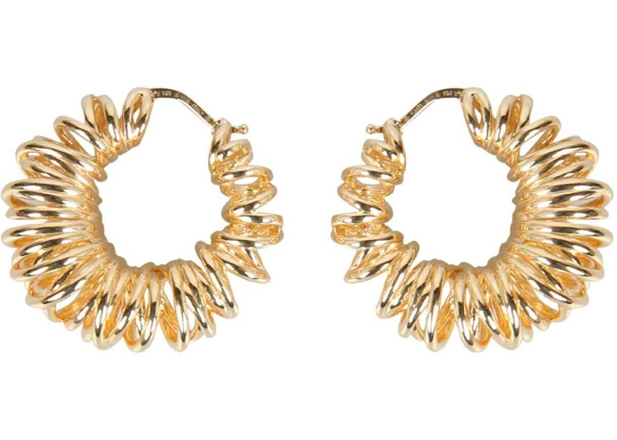 Bottega Veneta Spiral Hoop Earrings Gold