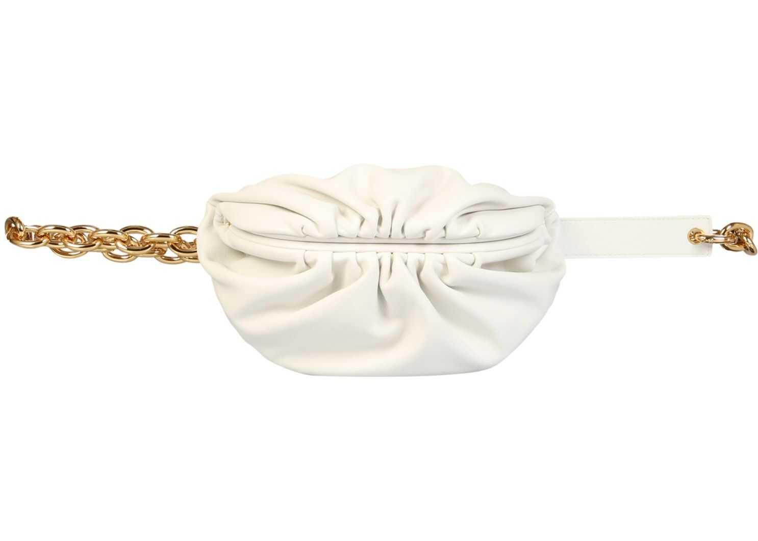 Bottega Veneta The Belt Chain Pouch 651445_VCP419132 WHITE imagine b-mall.ro