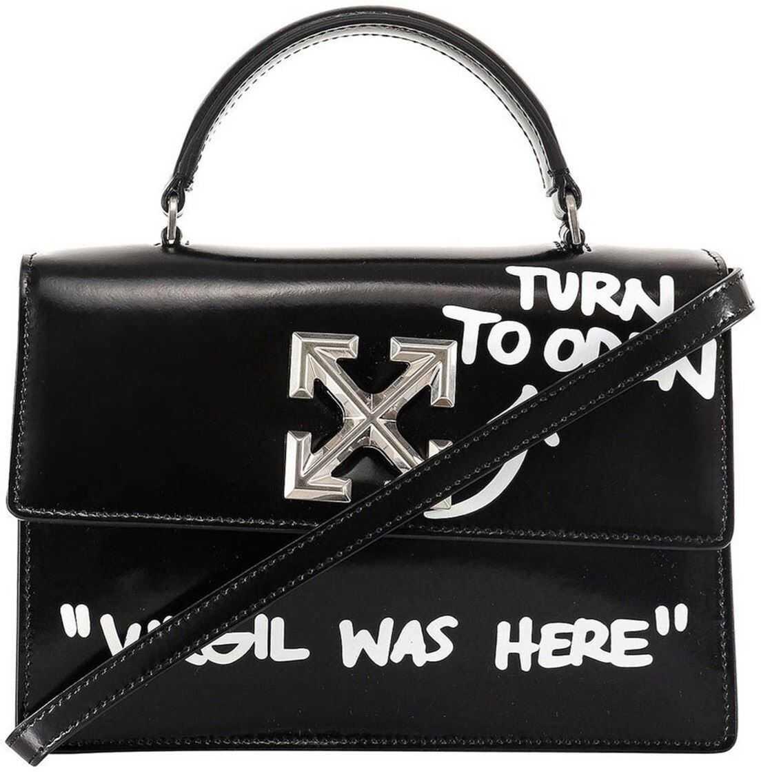 Off-White 1.4 Jitney Cross Body Bag In Black OWNA092R21LEA0011001 Black imagine b-mall.ro