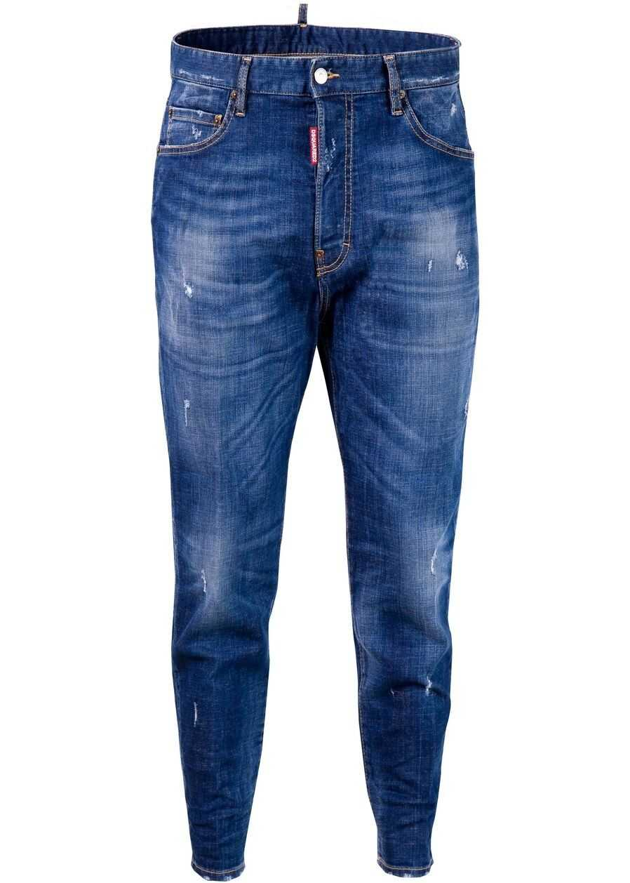 DSQUARED2 80's Authentic Jeans S71LB0612 Blue imagine