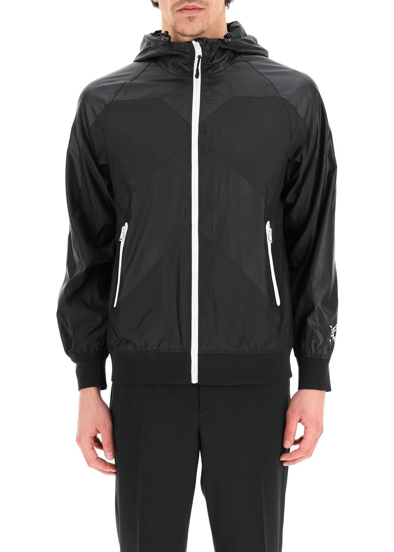 Kenzo Little X Windbreaker Jacket Sport BLACK imagine