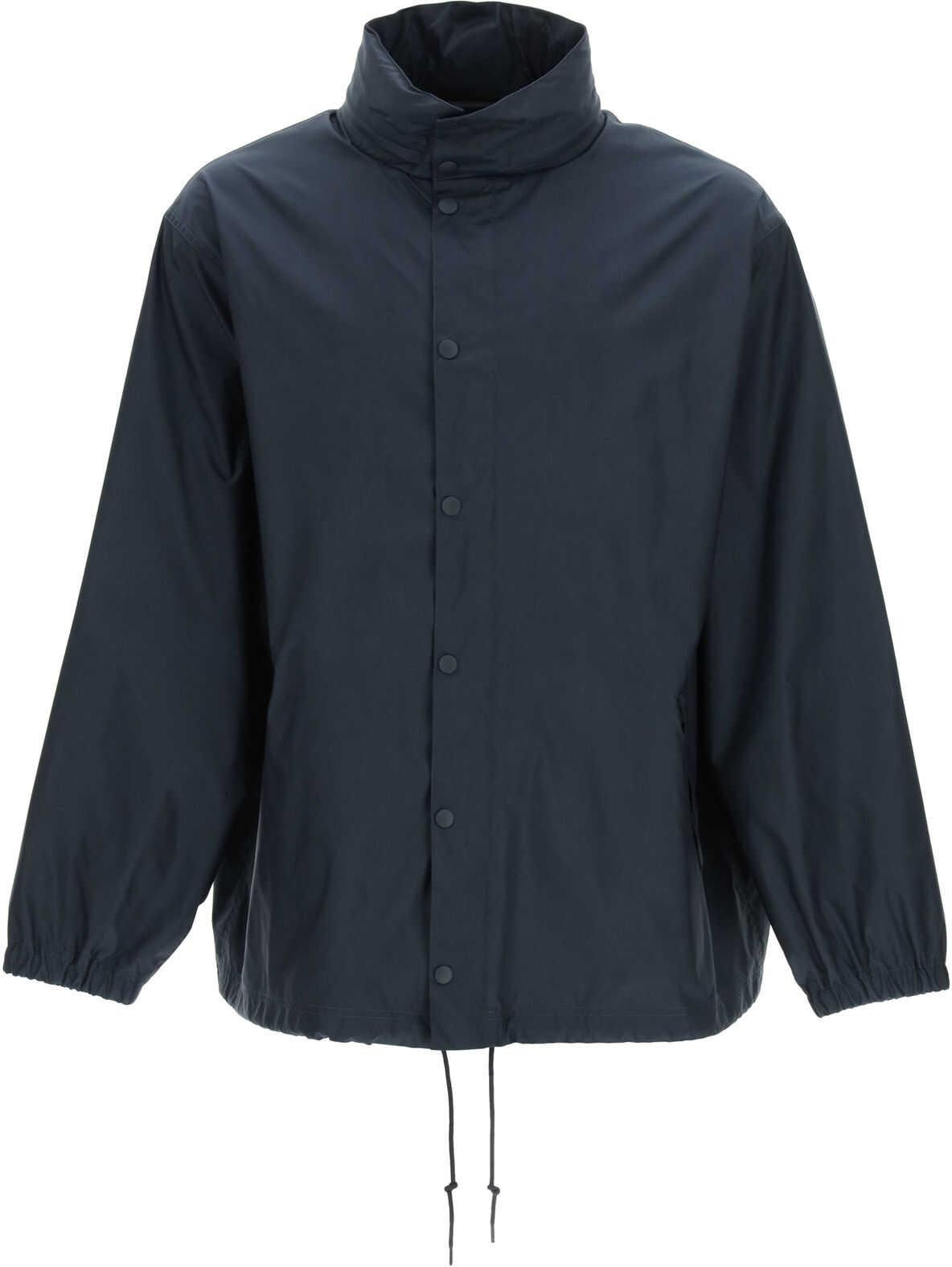 Balenciaga Nylon Rain Jacket Languages DARK NAVY imagine