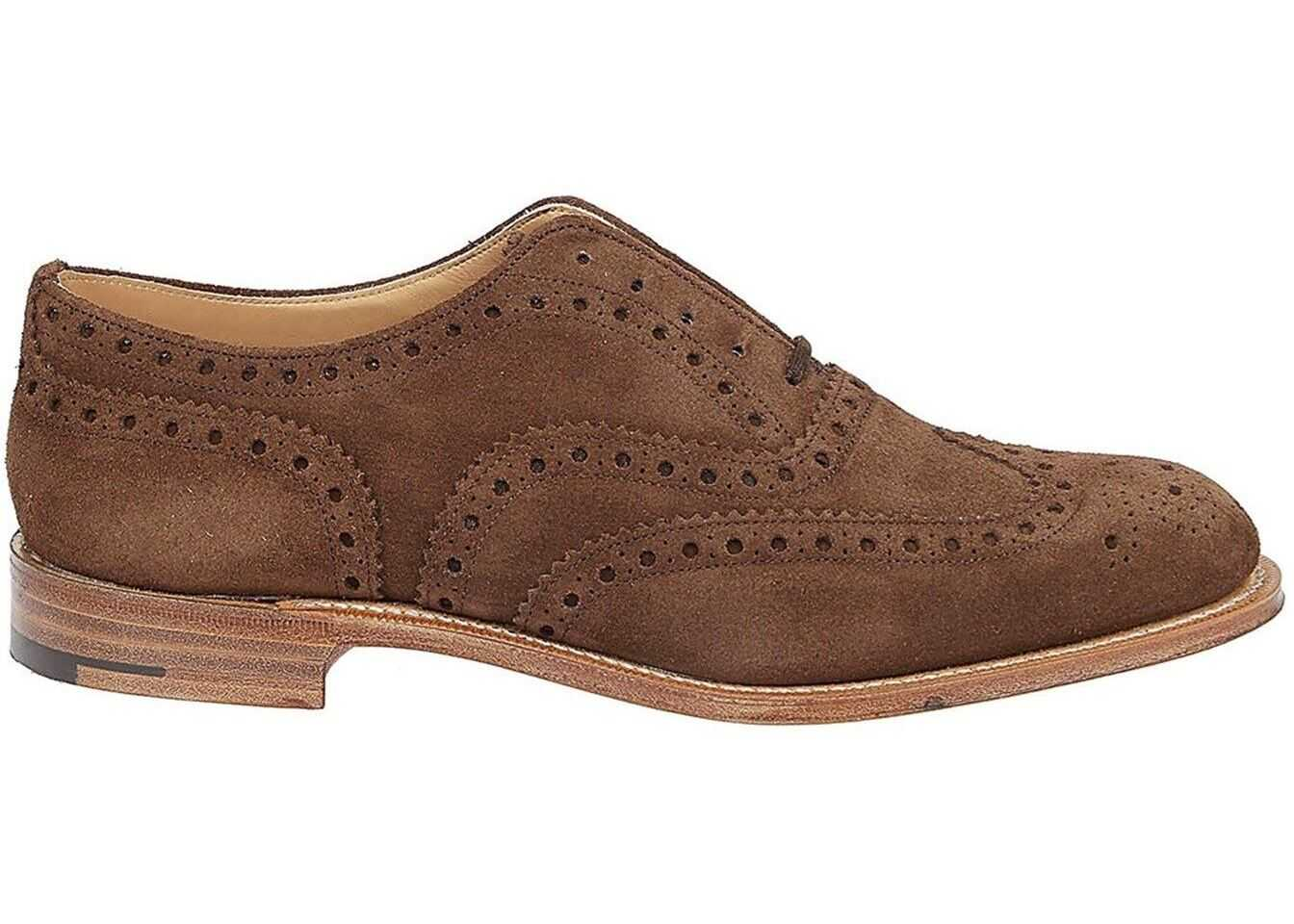 Church's Burwood Brogue Oxford Suede Shoes In Brown EEB2649VEF0ADV Brown imagine b-mall.ro