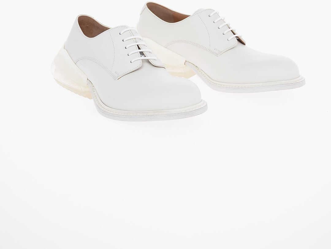 Maison Margiela MM22 Bubble Sole Oxford Shoes WHITE imagine b-mall.ro