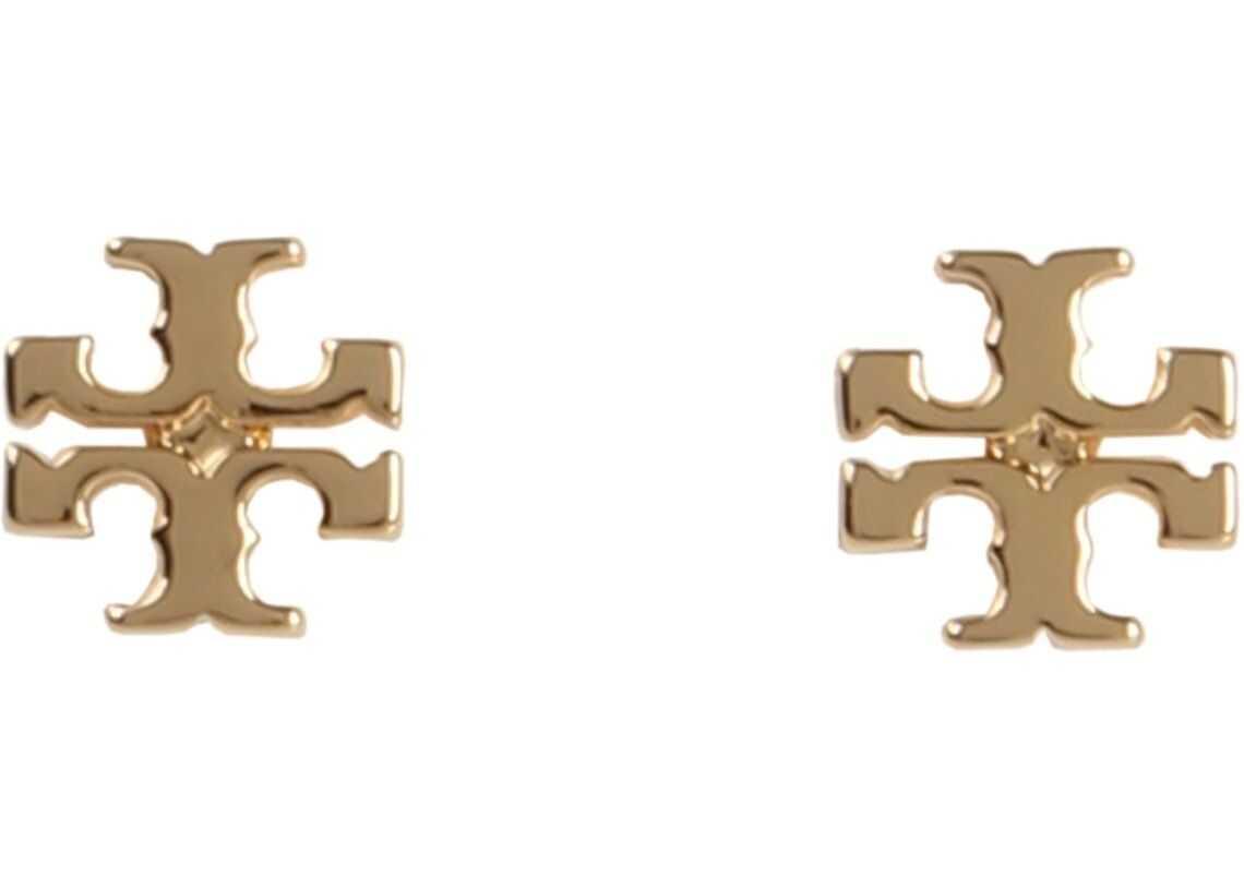 Tory Burch Stud Logo Earrings GOLD