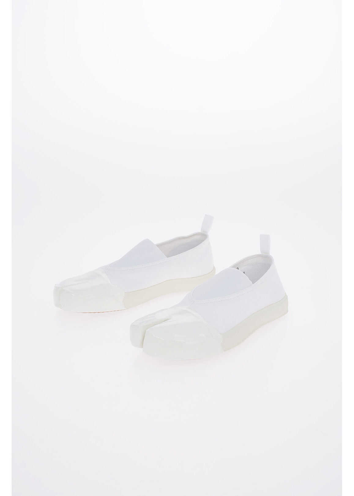 Maison Margiela MM22 Fabric TABI Slip On Sneakers WHITE imagine b-mall.ro