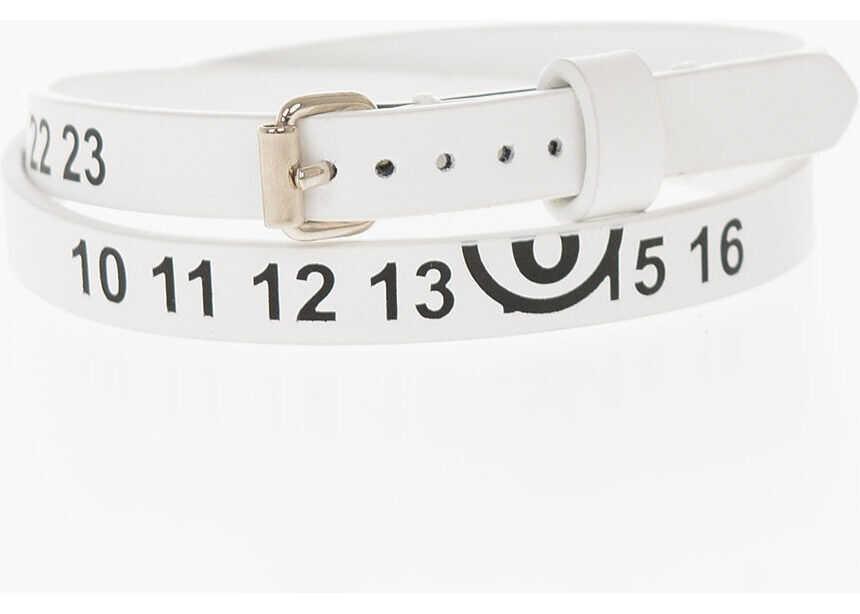 Maison Margiela MM6 Leather Bracelet WHITE