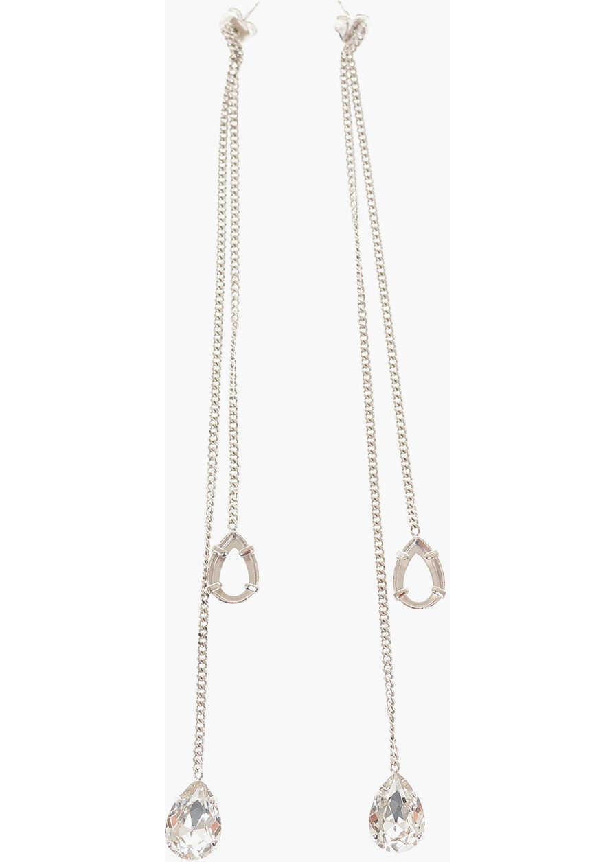 Maison Margiela MM6 Brass Earrings with pendant SILVER