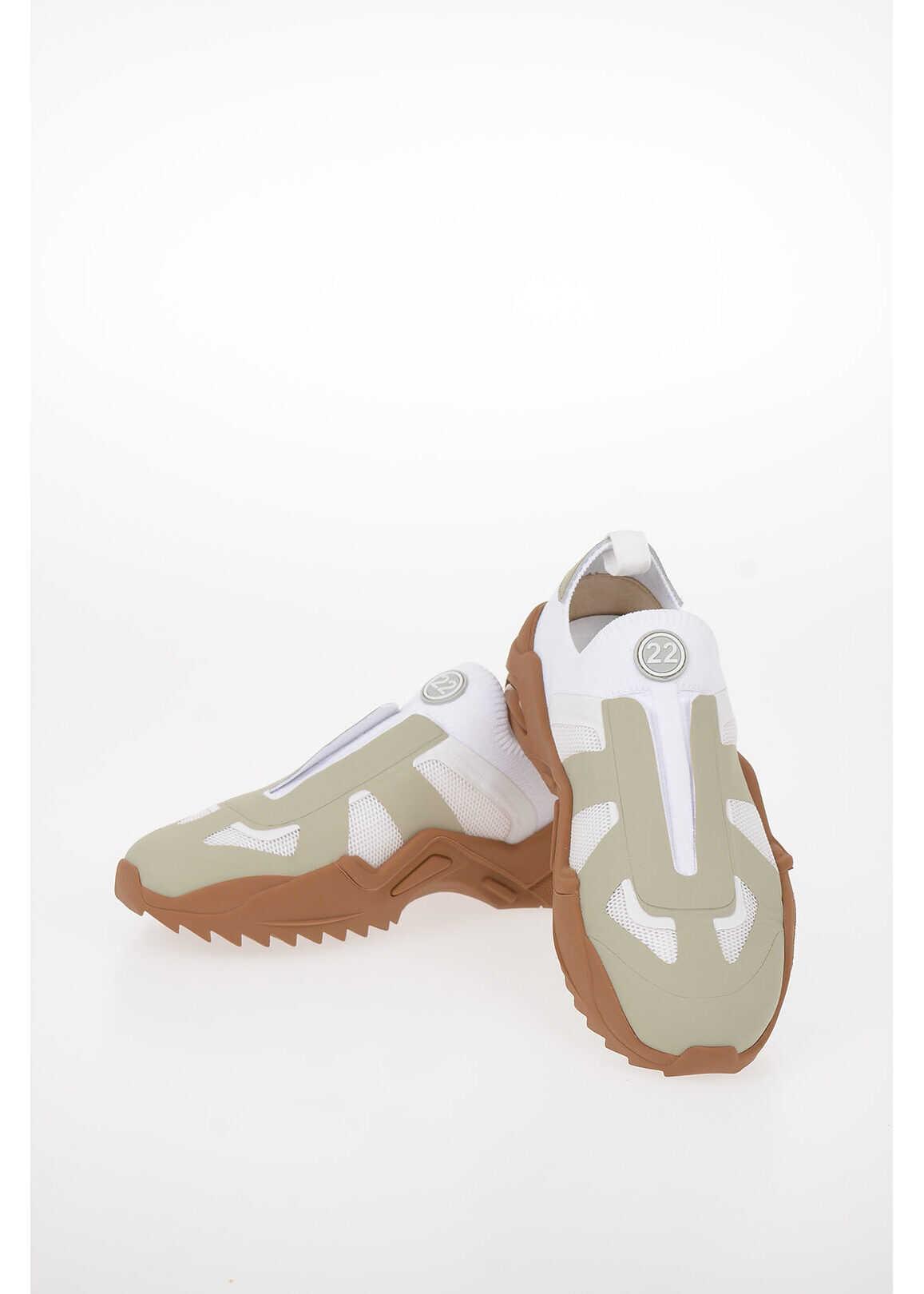 Maison Margiela MM22 Canvas NEW REPLICA Slip On Sneakers WHITE imagine b-mall.ro