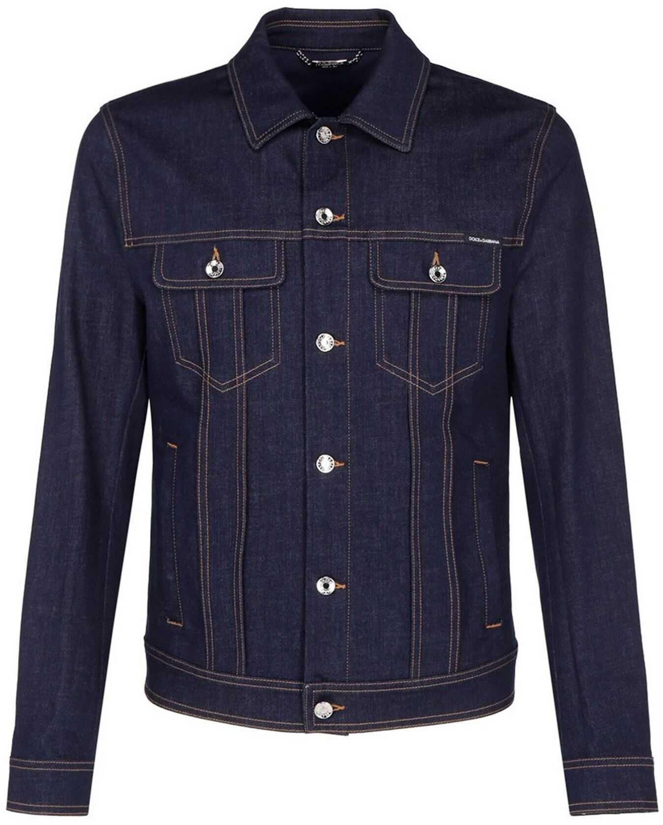 Dolce & Gabbana Denim Jacket In Blue Blue imagine