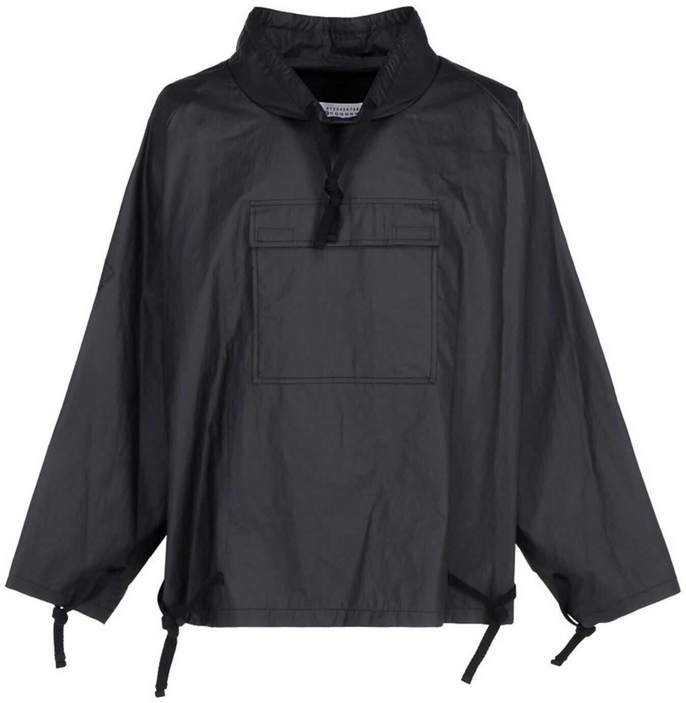 Maison Margiela Ramie Pullover Jacket In Black Black imagine