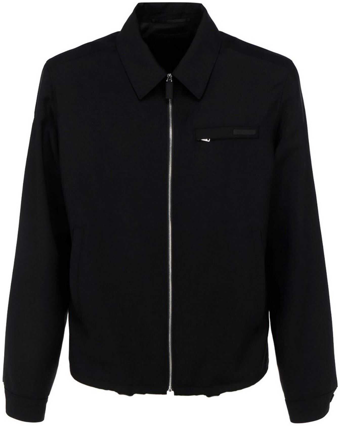 Prada Mohair-Wool Blend Jacket In Black Black imagine