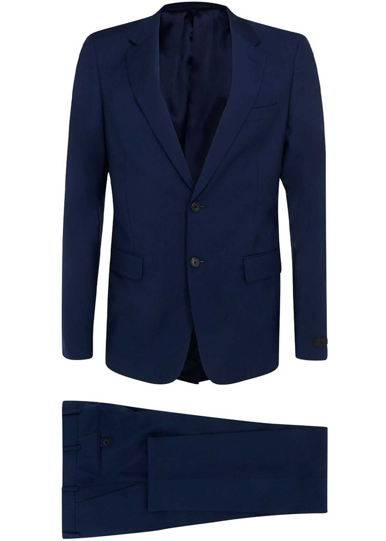 Wool-Mohair Blend Suit In Blue