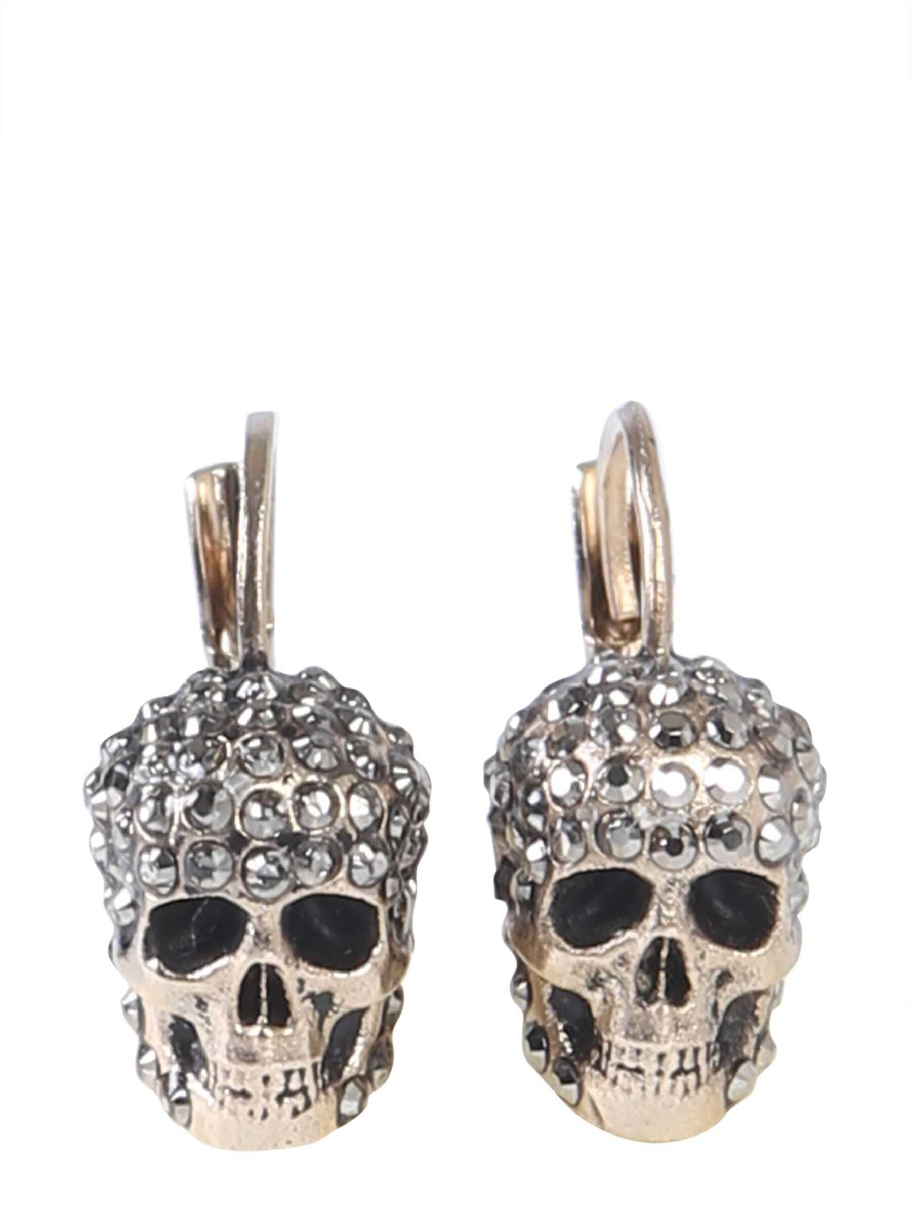 Alexander McQueen Skull Earrings GOLD