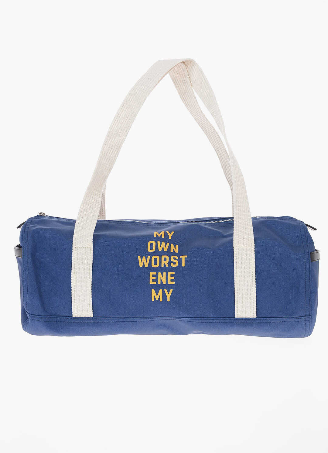 Céline Fabric MY OWN WORST ENEMY Duffle Bag with Leather Details BLUE imagine b-mall.ro