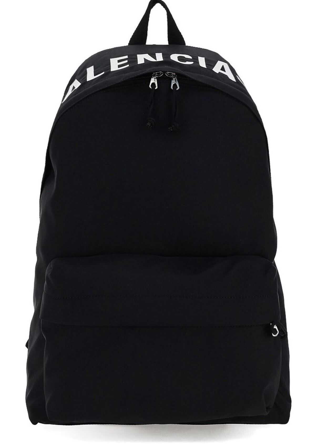 Balenciaga Logo Embroidery Backpack In Black 507460H853X1060 Black imagine b-mall.ro