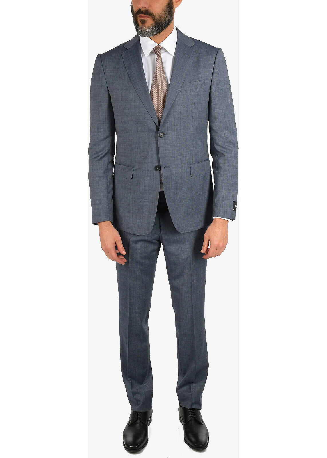 ZZEGNA Pin Point 2 Button Suit with Jetted Pocket