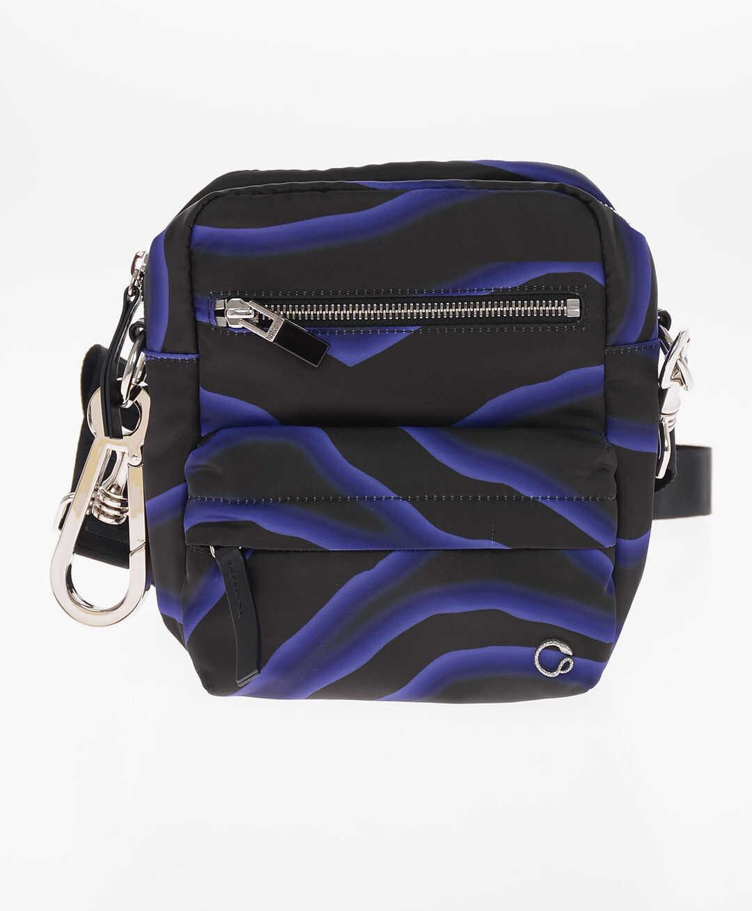 Just Cavalli Optical Printed Textile Crossbody Bag BLACK imagine b-mall.ro