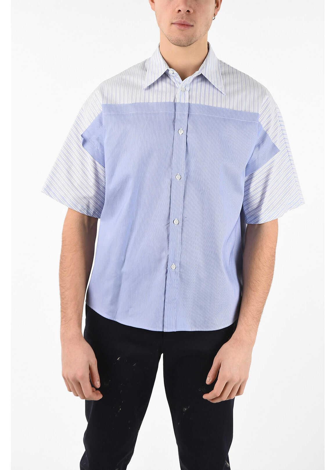 Maison Margiela MM10 Striped Shirt LIGHT BLUE imagine