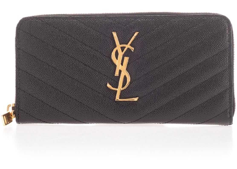 Zipped Wallet In Black