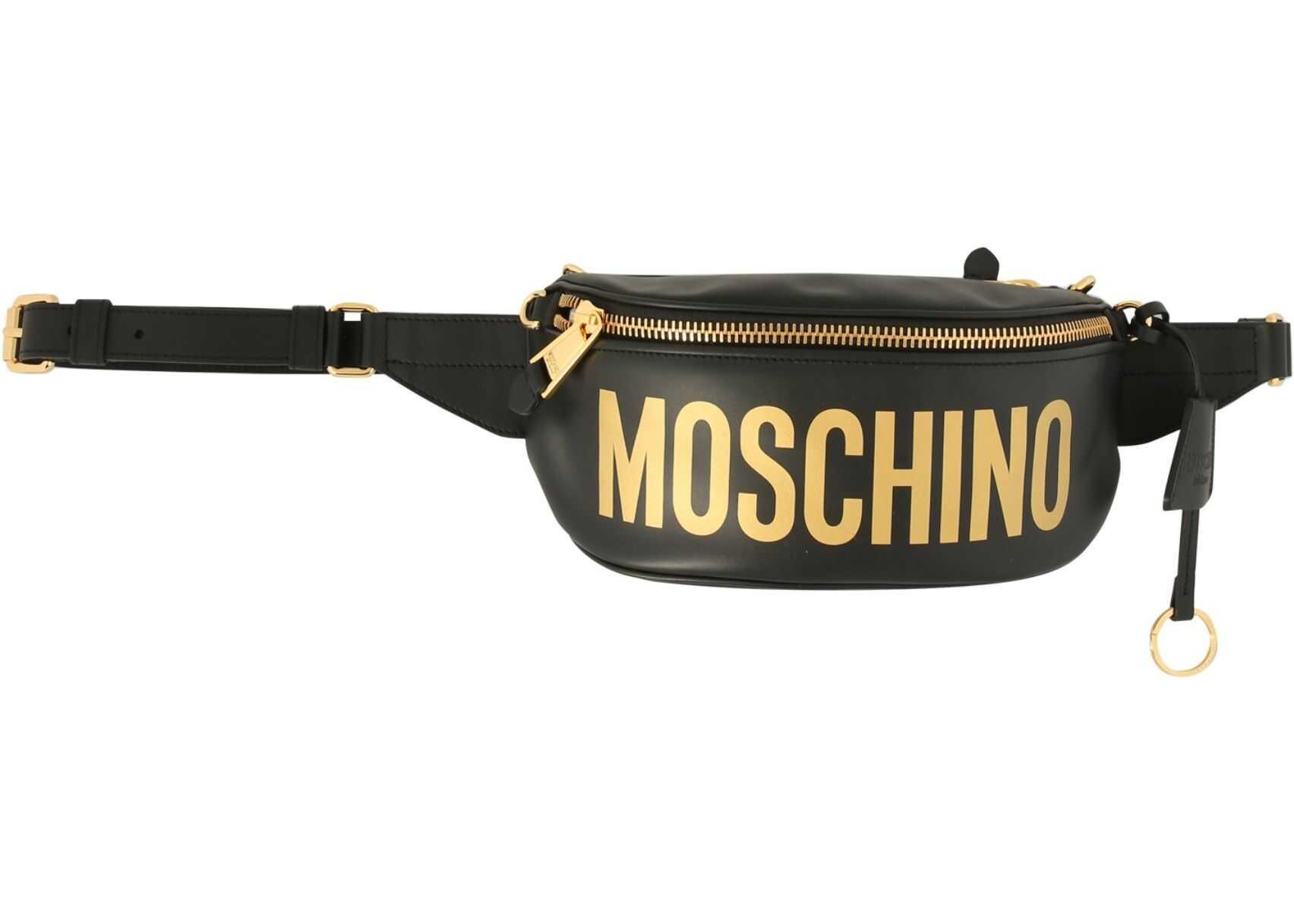 Moschino Belt Bag With Logo 77128001_2555 BLACK imagine b-mall.ro