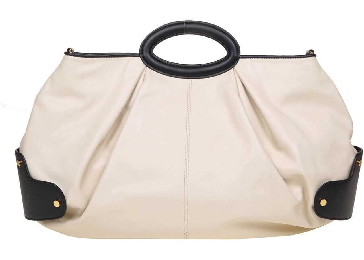 Marni Ballon Medium Bag In Cream Color BMMP0062U0P4092ZL995 Cream imagine b-mall.ro