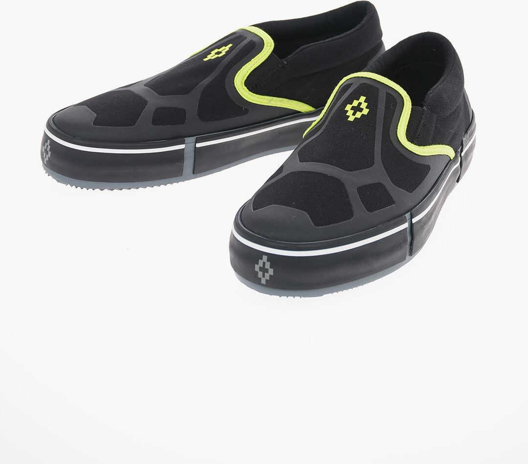 Marcelo Burlon Canvas CROSS VULCANIZED Slip On Sneakers BLACK imagine b-mall.ro
