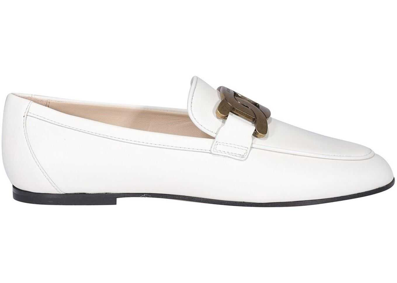TOD'S Kate Loafers In White XXW79A0DD00MIDB001 White imagine b-mall.ro