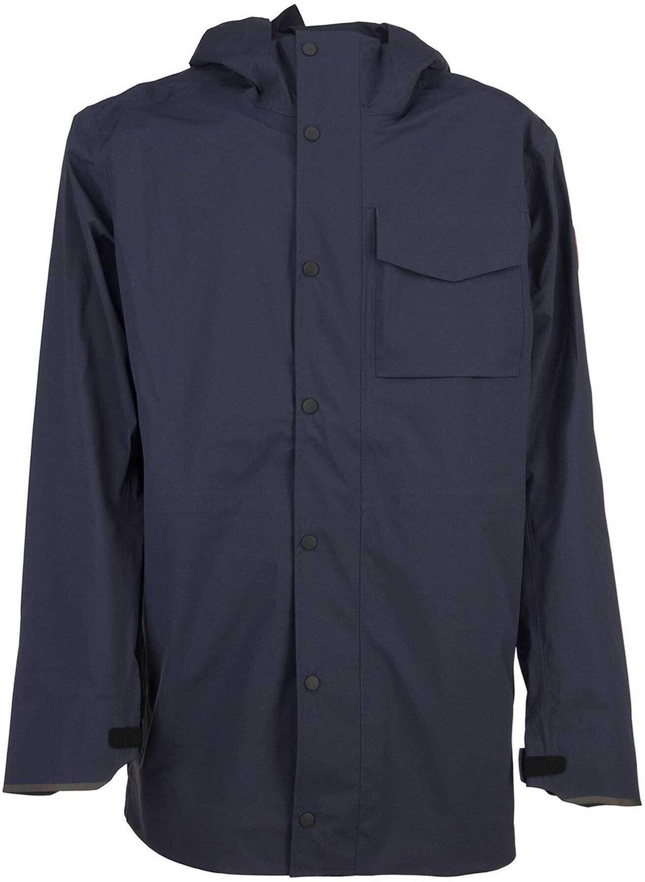 CANADA GOOSE Nanaimo Rain Jacket In Blue Blue imagine