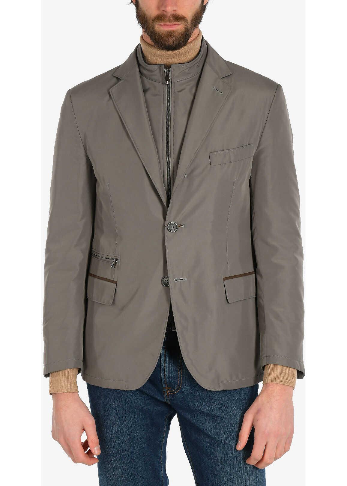 CORNELIANI ID OUTDOOR JKT 3-button blazer GRAY imagine