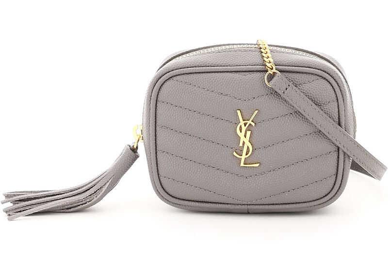 Saint Laurent Lou Baby Micro Shoulder Bag 635088 1GF01 FOG FOG imagine b-mall.ro