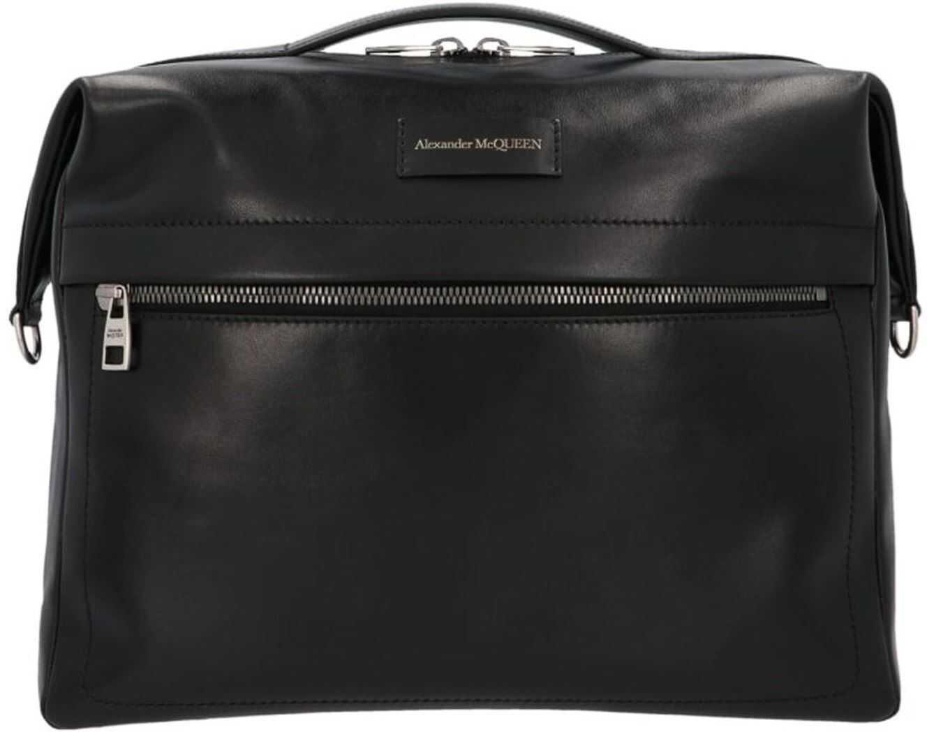 Alexander McQueen Messenger Bag In Black 6255071XI0Y1000 Black imagine b-mall.ro