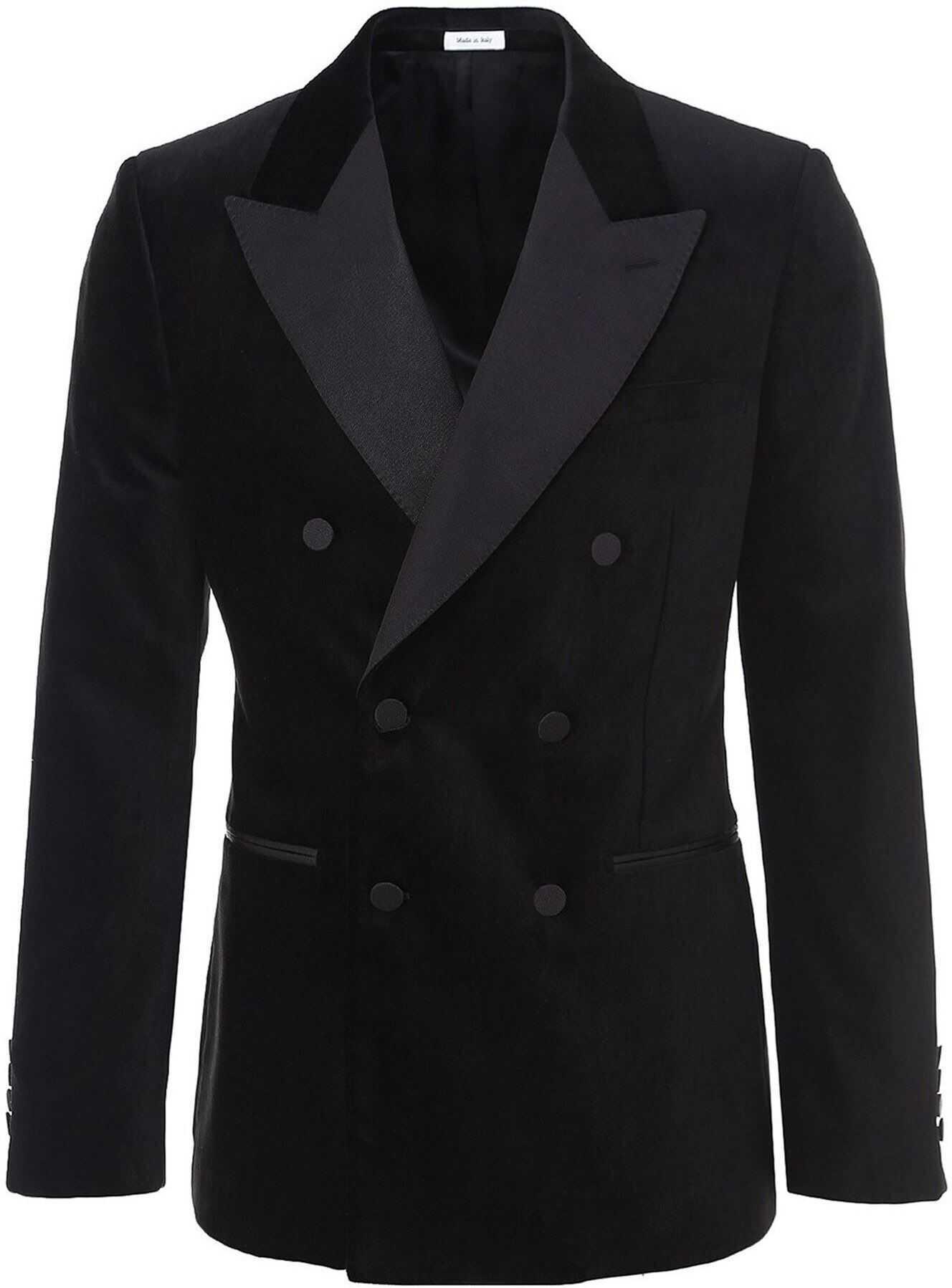 Alexander McQueen Velvet Blazer In Black Black imagine