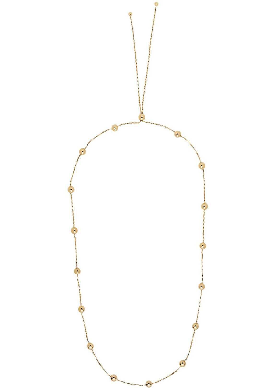 Bottega Veneta Spheres Necklace In Gold Color Yellow