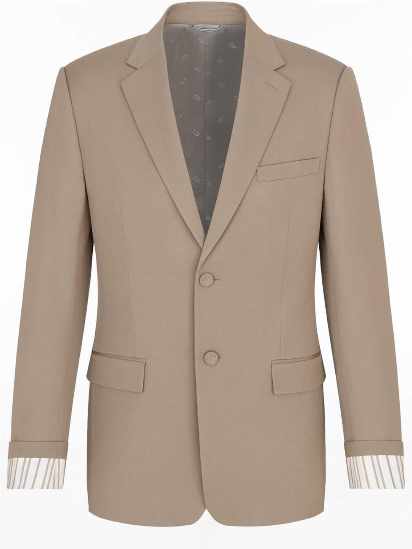 "Dior Jacket With ""Christian Dior"" Striped Sleeve Cuffs Beige imagine"