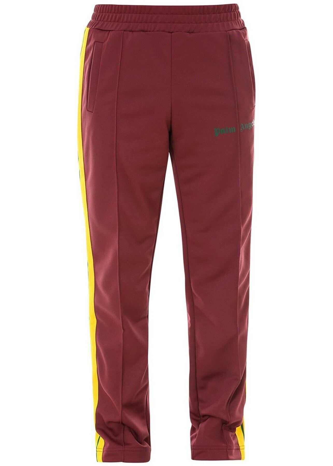 Palm Angels College Tracksuit Bottoms In Red Red imagine