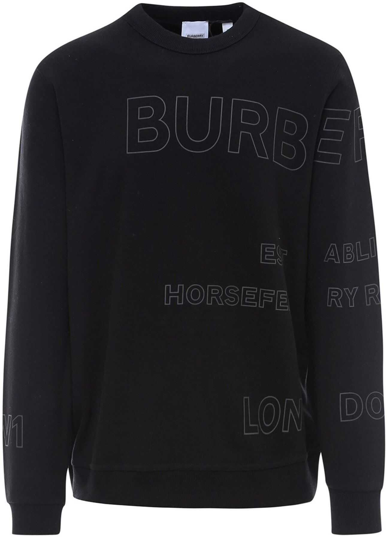 Burberry Horseferry Print Sweatshirt In Black Black imagine